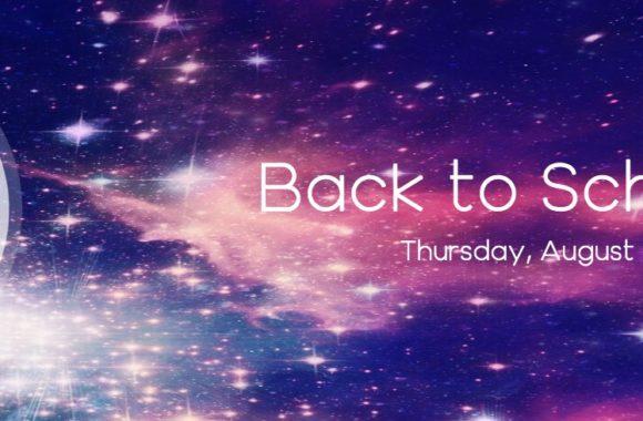 back to school night banner cosmic